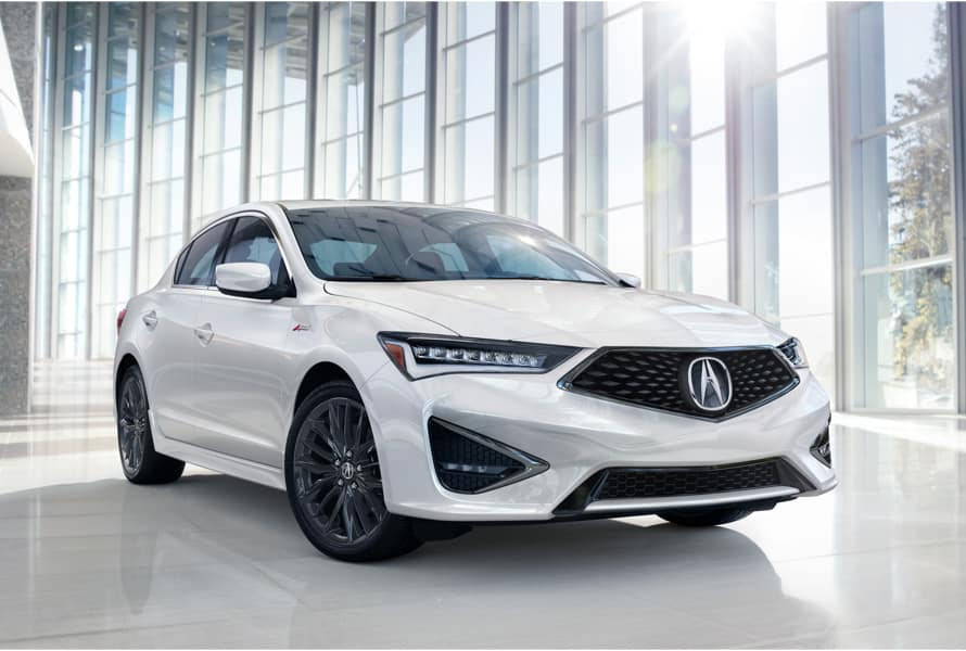 Acura Model Image - A white ILX sitting in a room