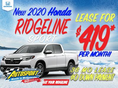 2020 Honda Ridgeline Sport
