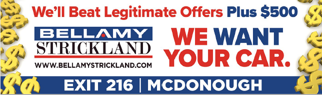 Sell Your Vehicle To Bellamy Strickland In McDonough