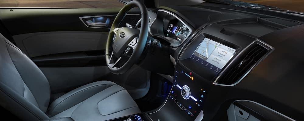 2020 Ford Edge front seats and infotainment system