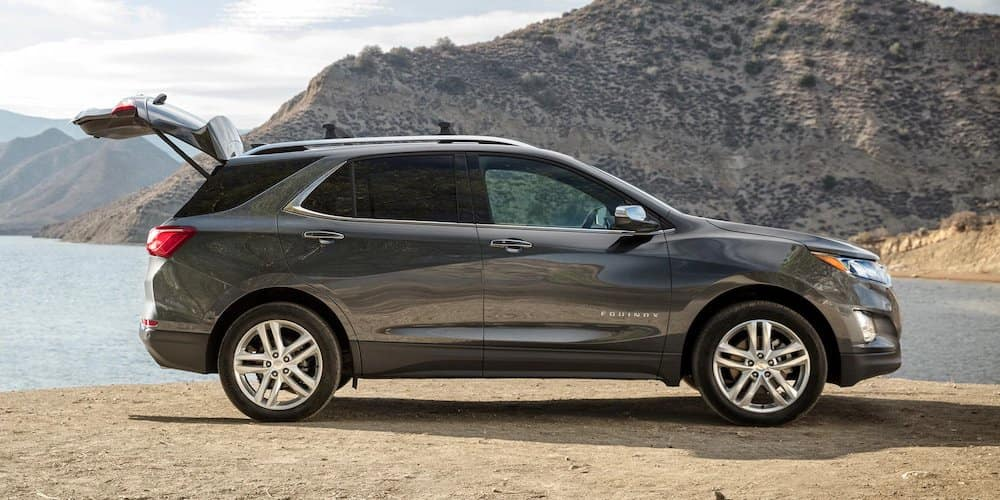 Grey 2020 Chevy Equinox Parked Near Water