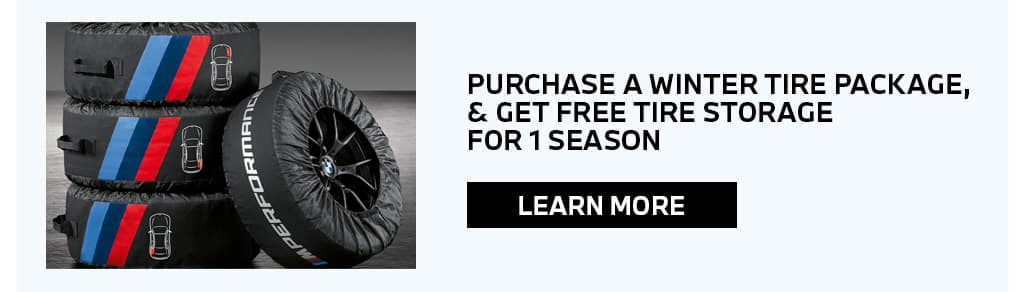 WINTER TIRE PACKAGE, FREE TIRE STORAGE