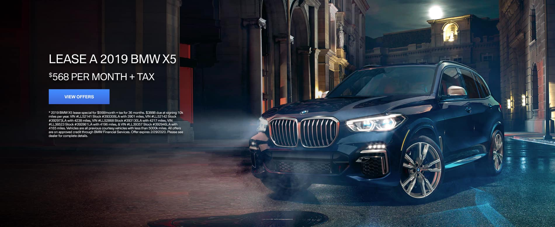 X5 Lease offer