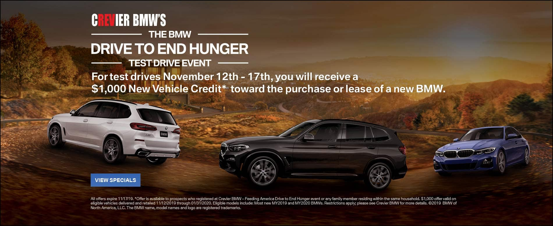 bmw to end hunger