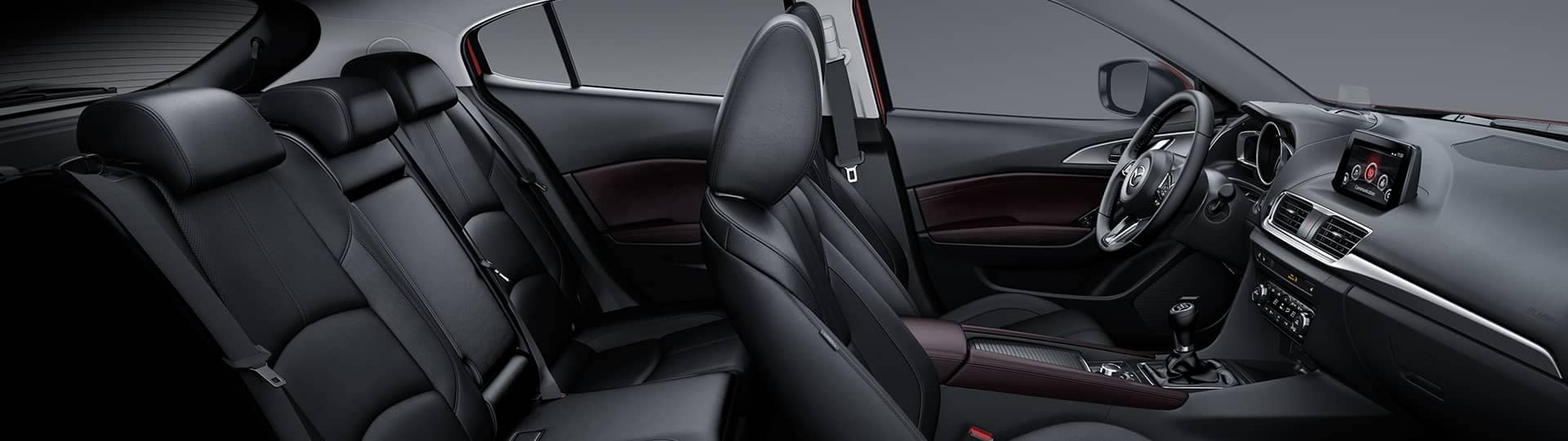 2018 Mazda3 interior side view