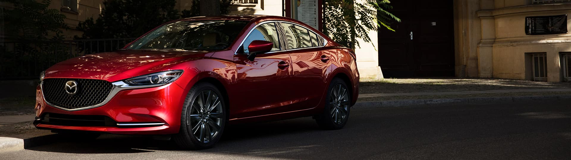 2018 Mazda6 red model parked