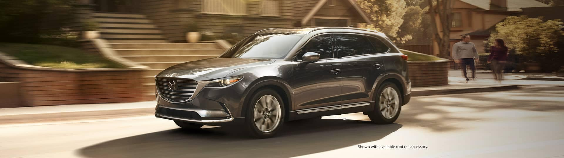 2019 Mazda CX-9 driving in neighbourhood