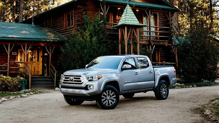 2020 Toyota Tacoma Parked in Front of House