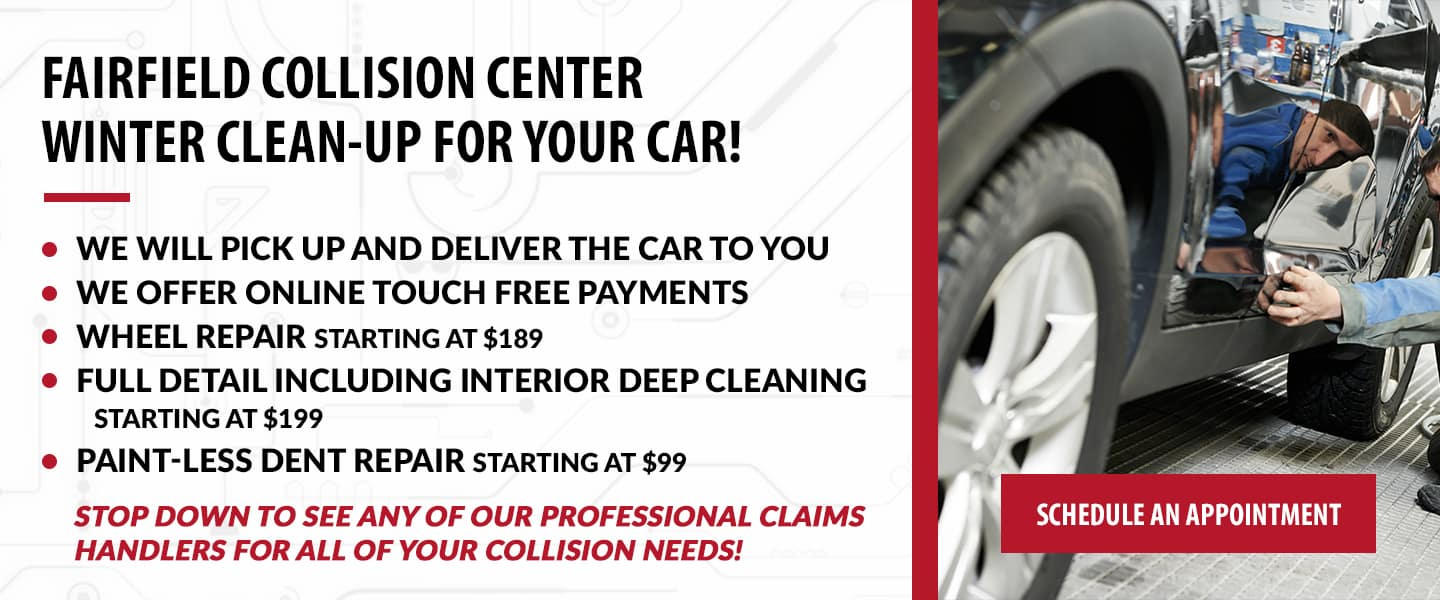 Fairfield Collision Center winter clean-up for your car!