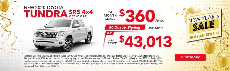 2020 Toyota Tundra Specials!