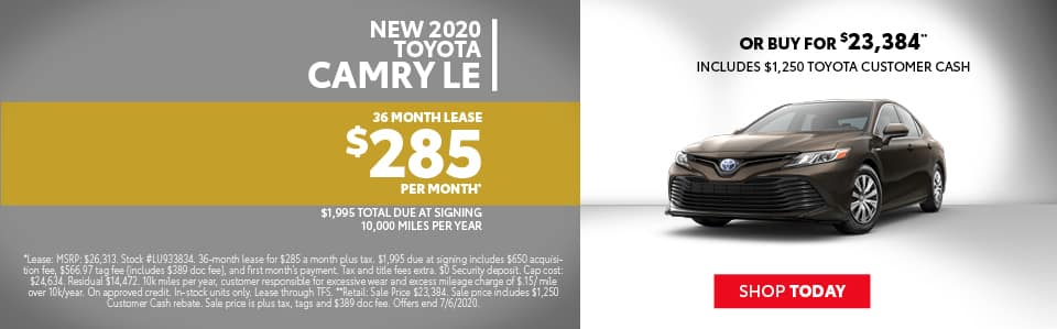 Camry Lease Special