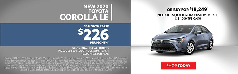 Corolla Lease Special