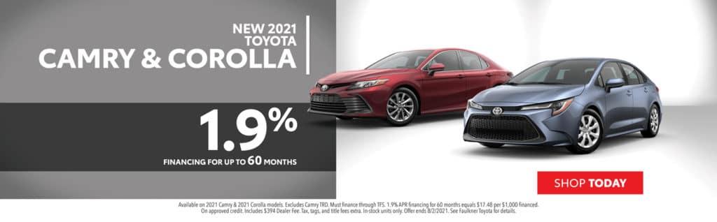 2021 Toyota Camry & Corolla