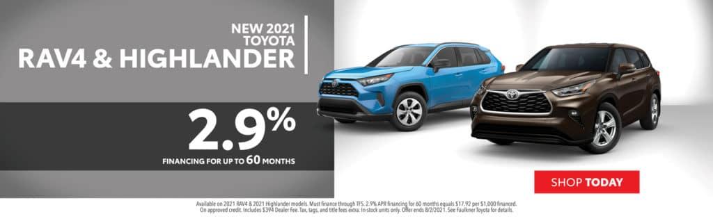 2021 Toyota RAV4 & Highlander