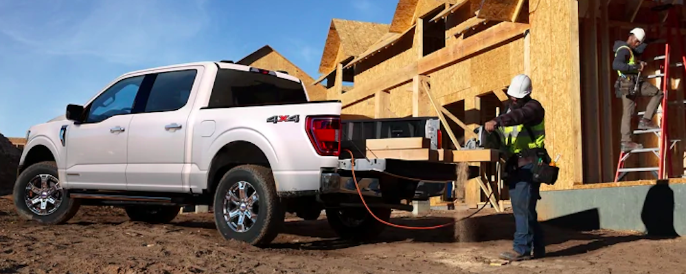 Ford F-150 on construction site
