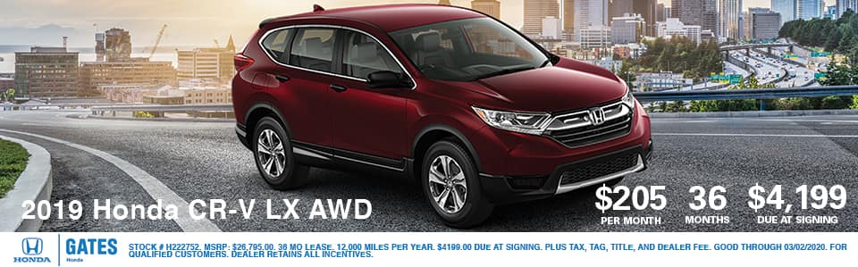 2019 Honda CR-V LX AWD at Gates Honda