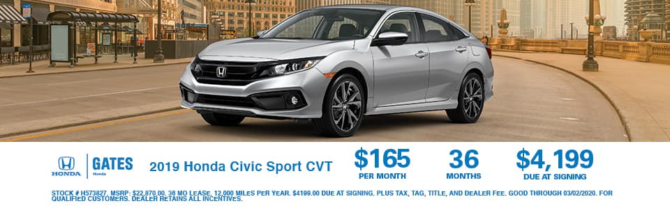 2019 Honda Civic Sport at Gates Honda
