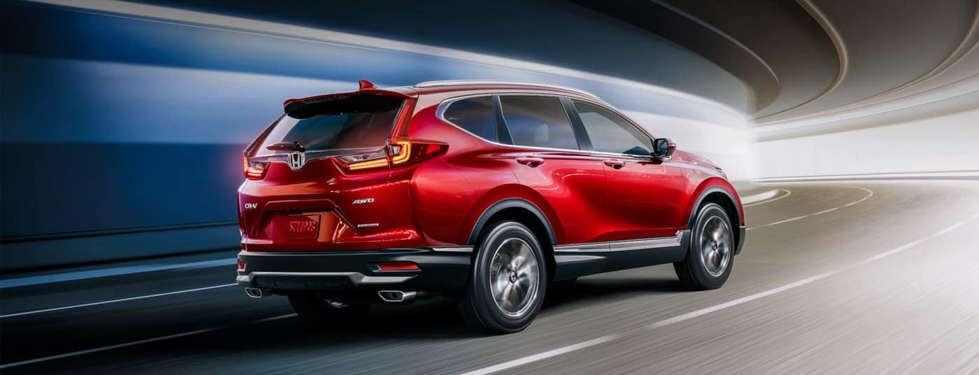 2020 Honda CR-V driving down curb