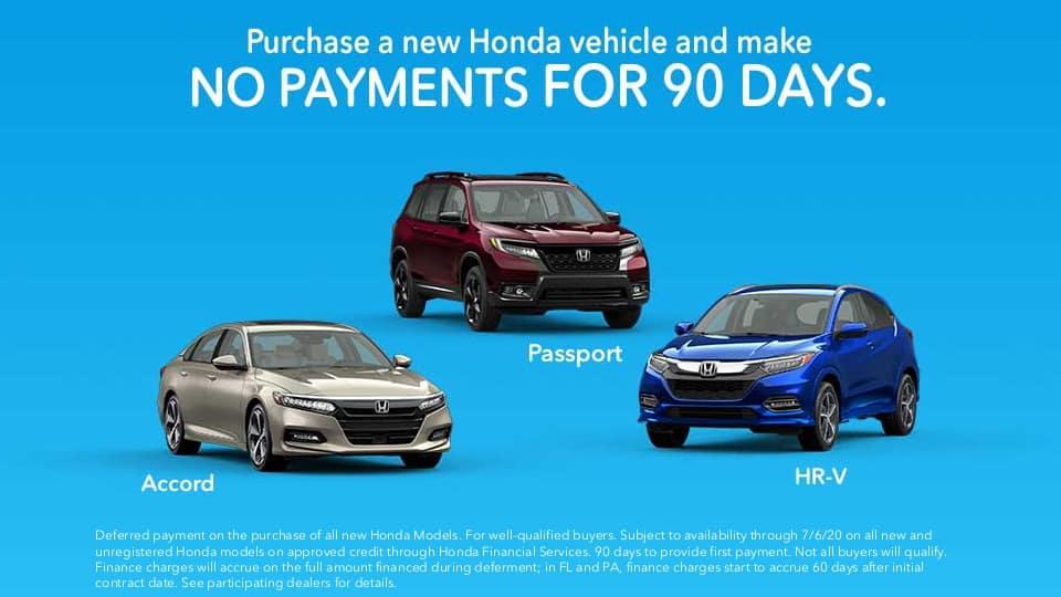 Honda-90 Days-no payment