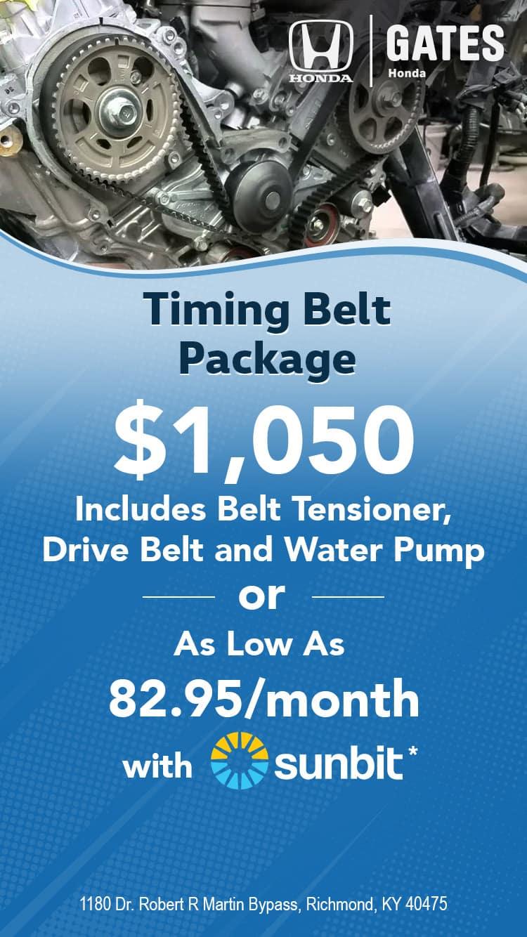 Timing Belt Package - $1050
