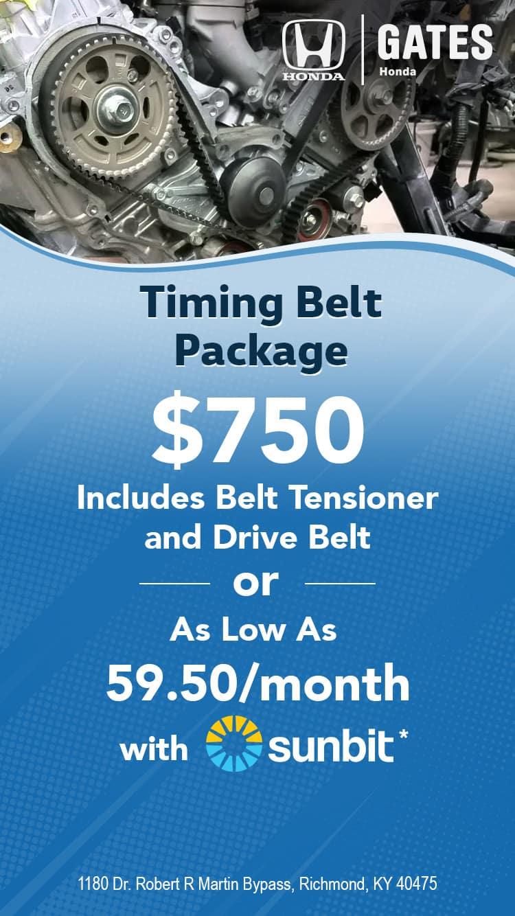 Timing Belt Package - $750