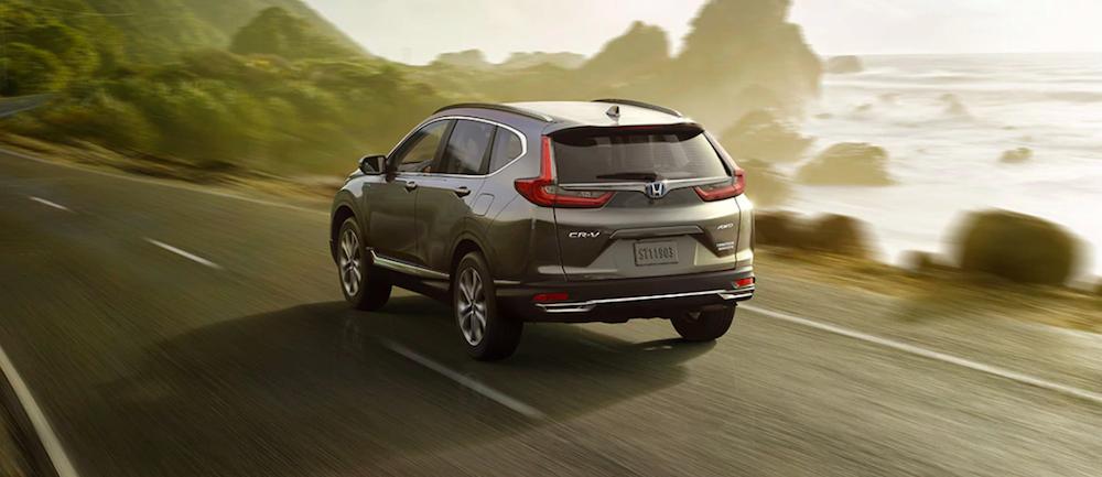 Honda CR-V Hybrid on highway
