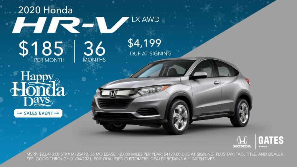 2020 Honda HR-V LX AWD at Gates Honda in Richmond