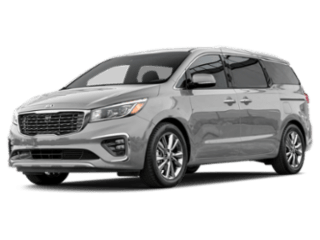 Angled view of the Kia Sedona