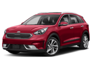Angled view of the Kia Niro