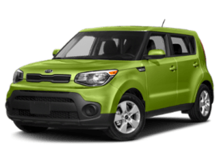 Angled view of the Kia Soul
