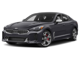 Angled view of the Kia Stinger