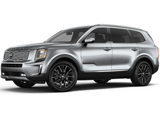 Angled view of the Kia Telluride