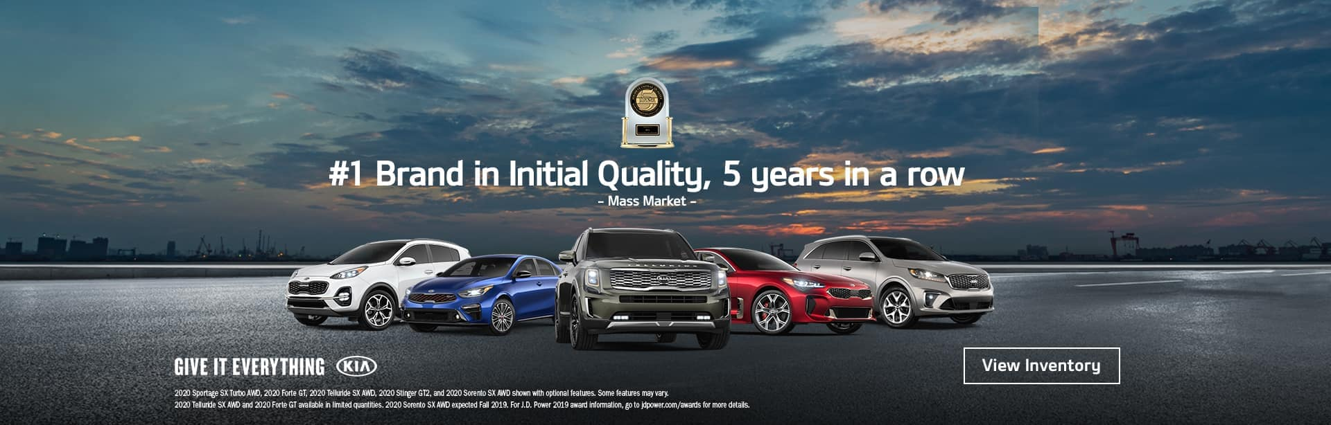 #1 brand in initial quality, 5 years in a row.