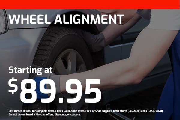 Wheel Alignment Starting at $89.95