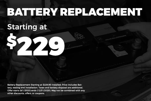 Battery Replacement Starting at $229