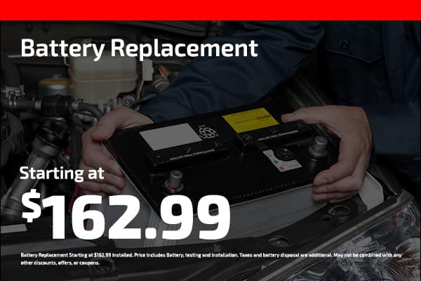 battery replacement starting at $162.99