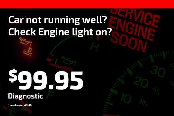 Car not running well? Check Engine light on? $99.95 Diagnostic