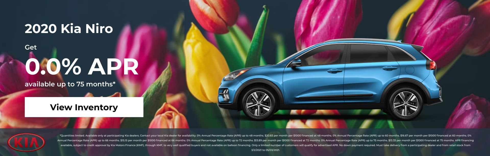 2020 Kia Niro Get 0% APR up to 75 months