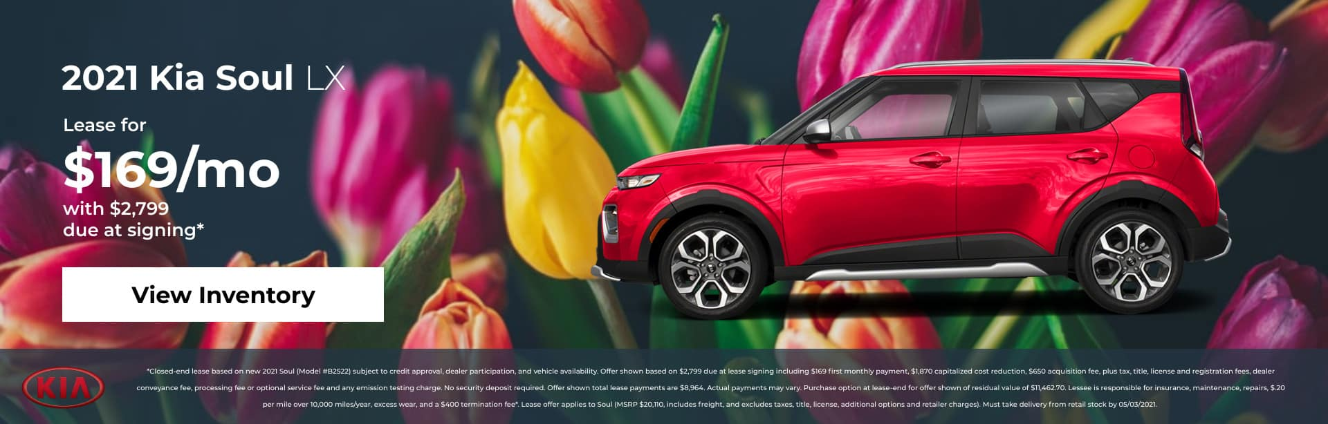 2021 Kia Soul LX Lease for $169/mo with $2,799 due at signing*