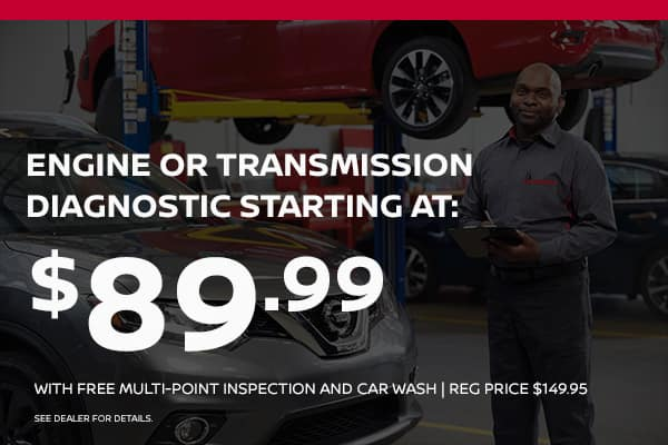 Engine or transmission diagnostic starting at $89.99