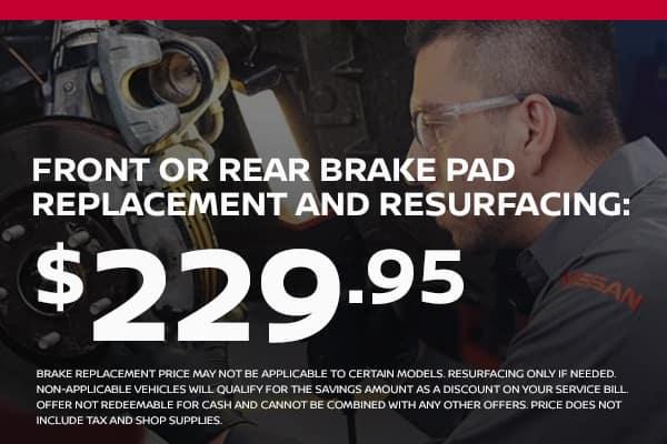 brake replacement starting at $229.95