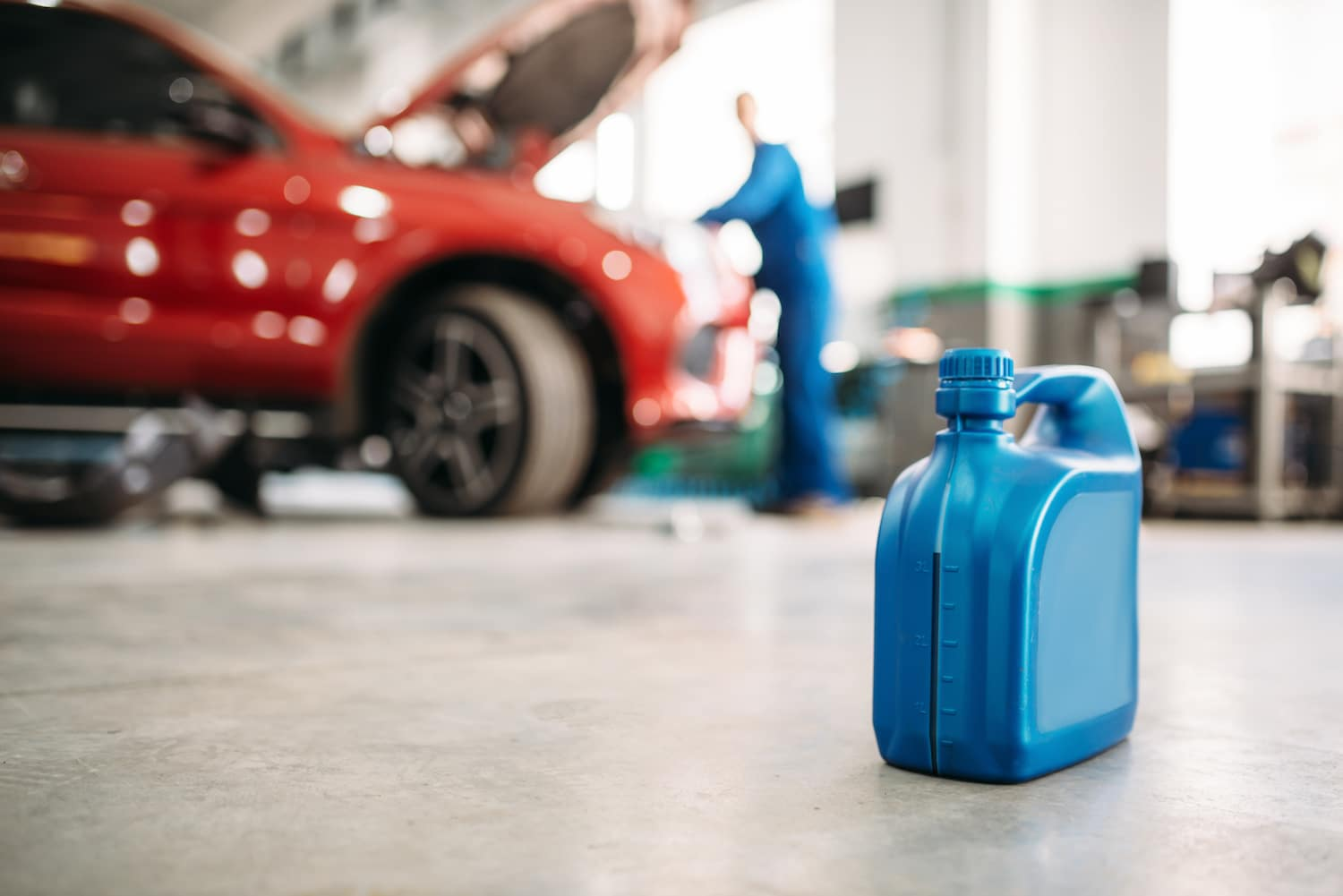 Oil Changes at Nissan   Engine Oil Container