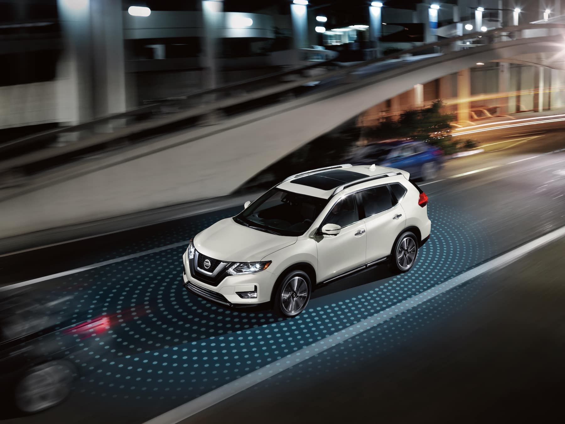 The 2020 Rogue model features at Hanover Nissan in Hanover | white 2020 rogue safety sensor