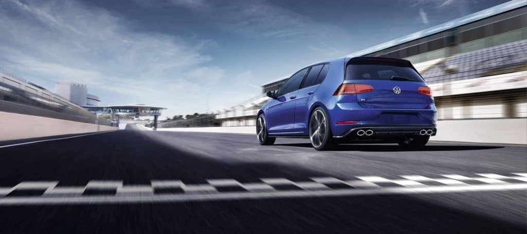 performance and safety features of the 2019 Volkswagen at hanover Volkswagen | Blue 2019 golf running on road
