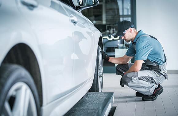 How to check your tires' health at Hanover Volkswagen | Mechanic check car tire