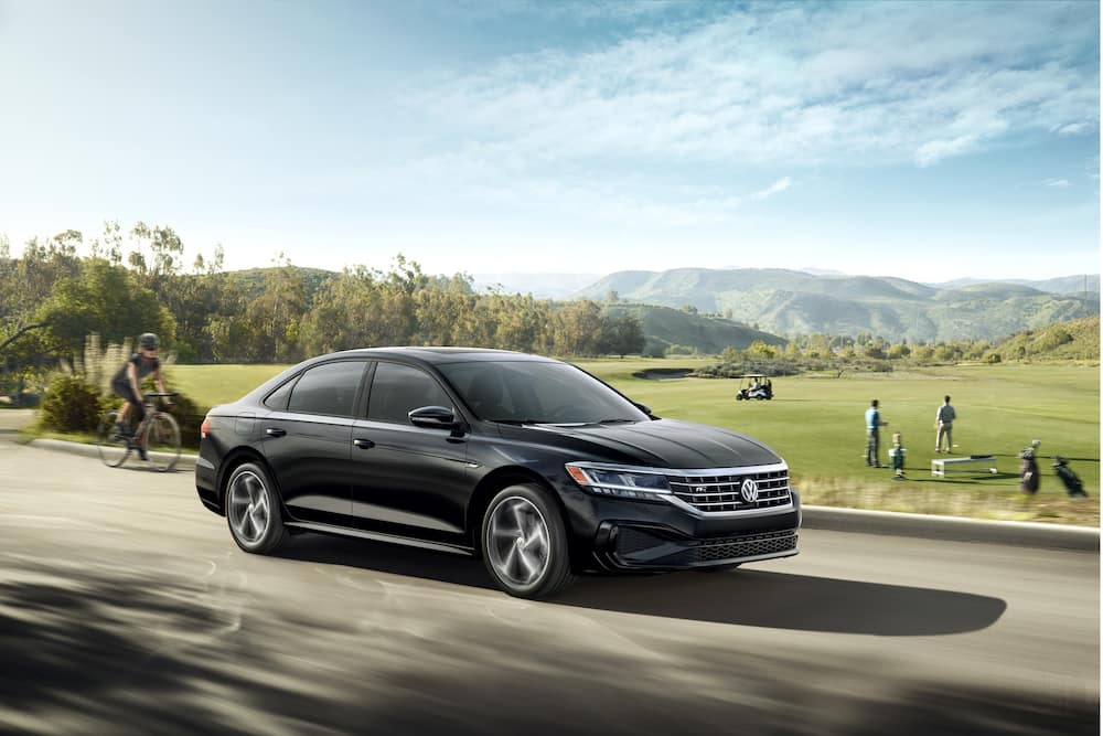 What are the model features of the 2020 Volkswagen Passat? Hanover Volkswagen | 2020 passat driving in the country side