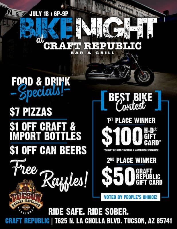 Bike Night at Craft Republic