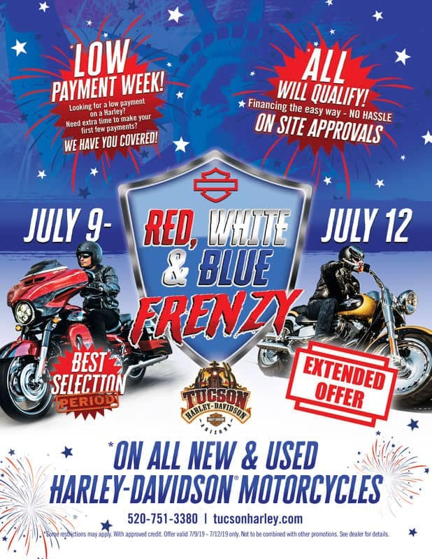 Red White and Blue Frenzy July 9th to July 12