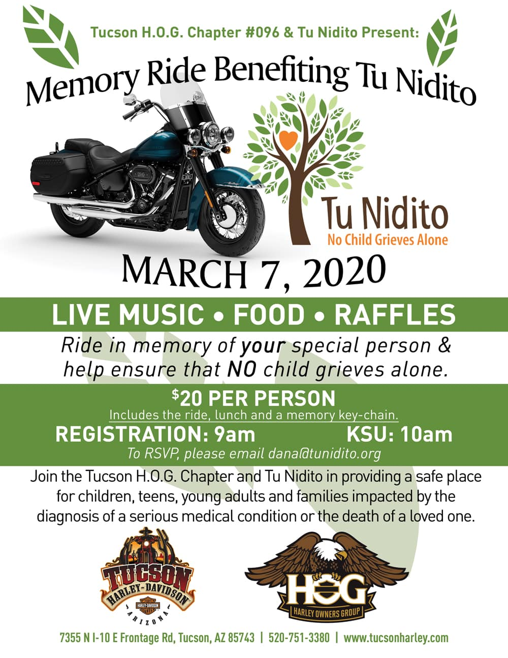 Memory Ride Benefiting Tu Nidito, March 7, 2020.
