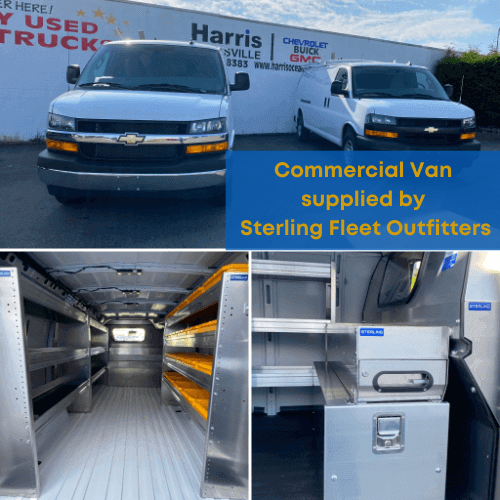 Commercial van custom boxes supplied by Sterling Fleet Outfitters